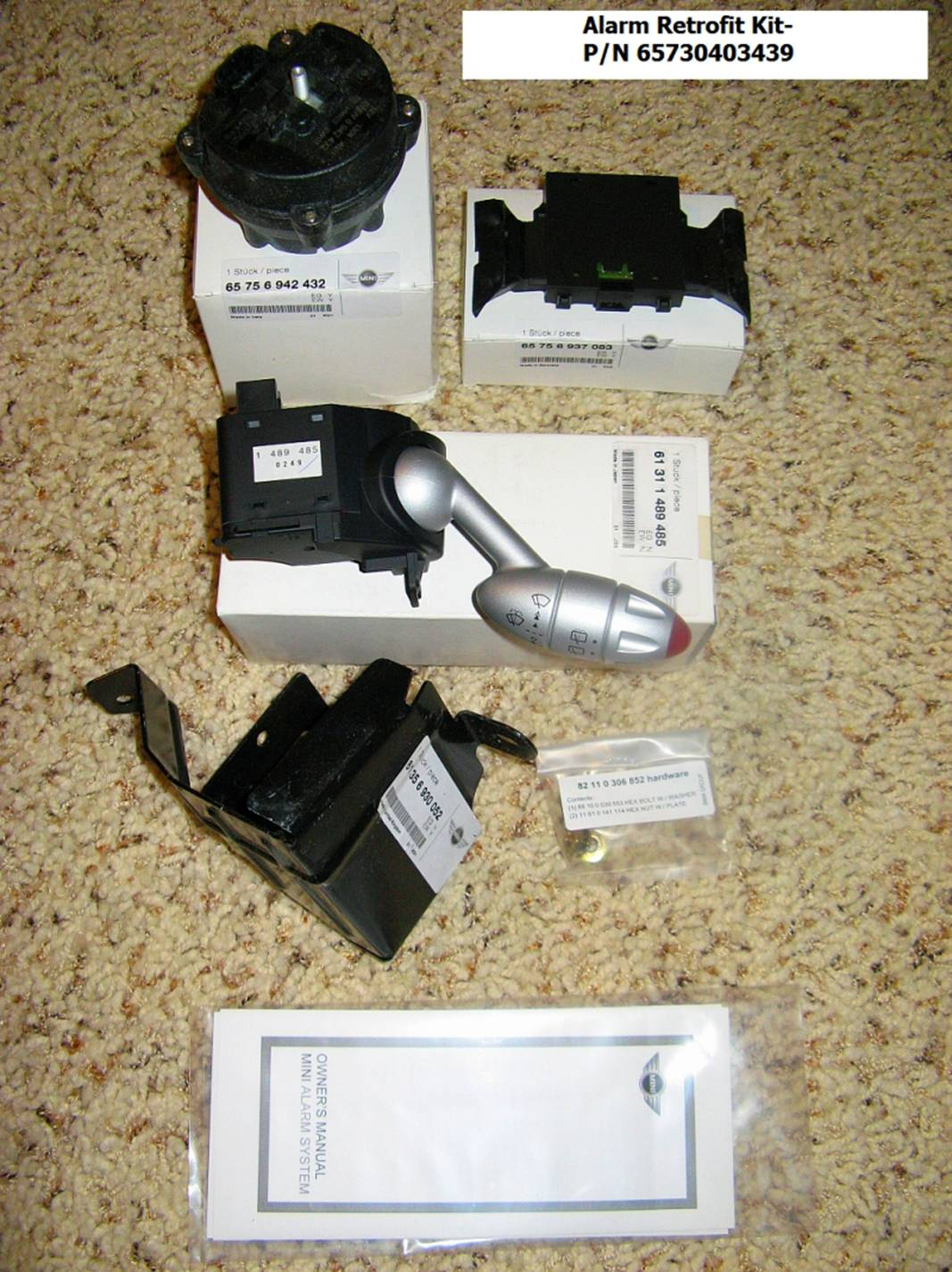 Mini Cooper S R50 53 Installing Oe Alarm Retrofit Kit