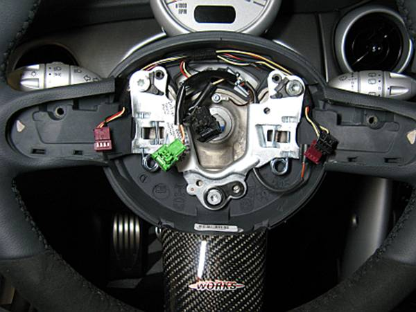 mini cooper s (r53): jcw steering wheel installation steering wheel wire harness mini cooper steering wheel wiring harness