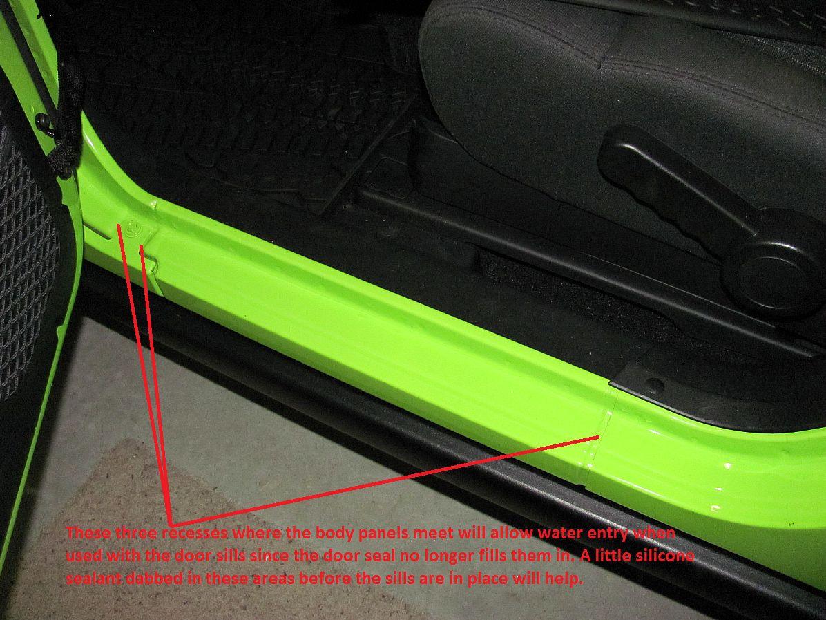 Used Jeep Wrangler Sport >> Leak problem with Mopar Door Sill Guard - Page 2 - Jeep Wrangler Forum